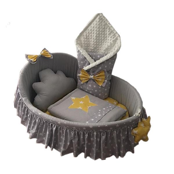 سرویس خواب 6 تکه نوزاد طرح ستاره کد 980026