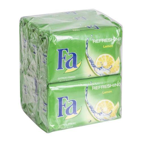 صابون شستشو فا مدل lemon وزن 175 گرم بسته 6 عددی