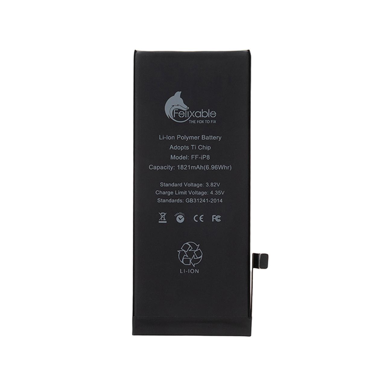 باتری موبایل فلیکسبل مدل FF-iP8 ظرفیت 1821 میلی آمپر ساعت مناسب برای گوشی موبایل اپل iPhone 8