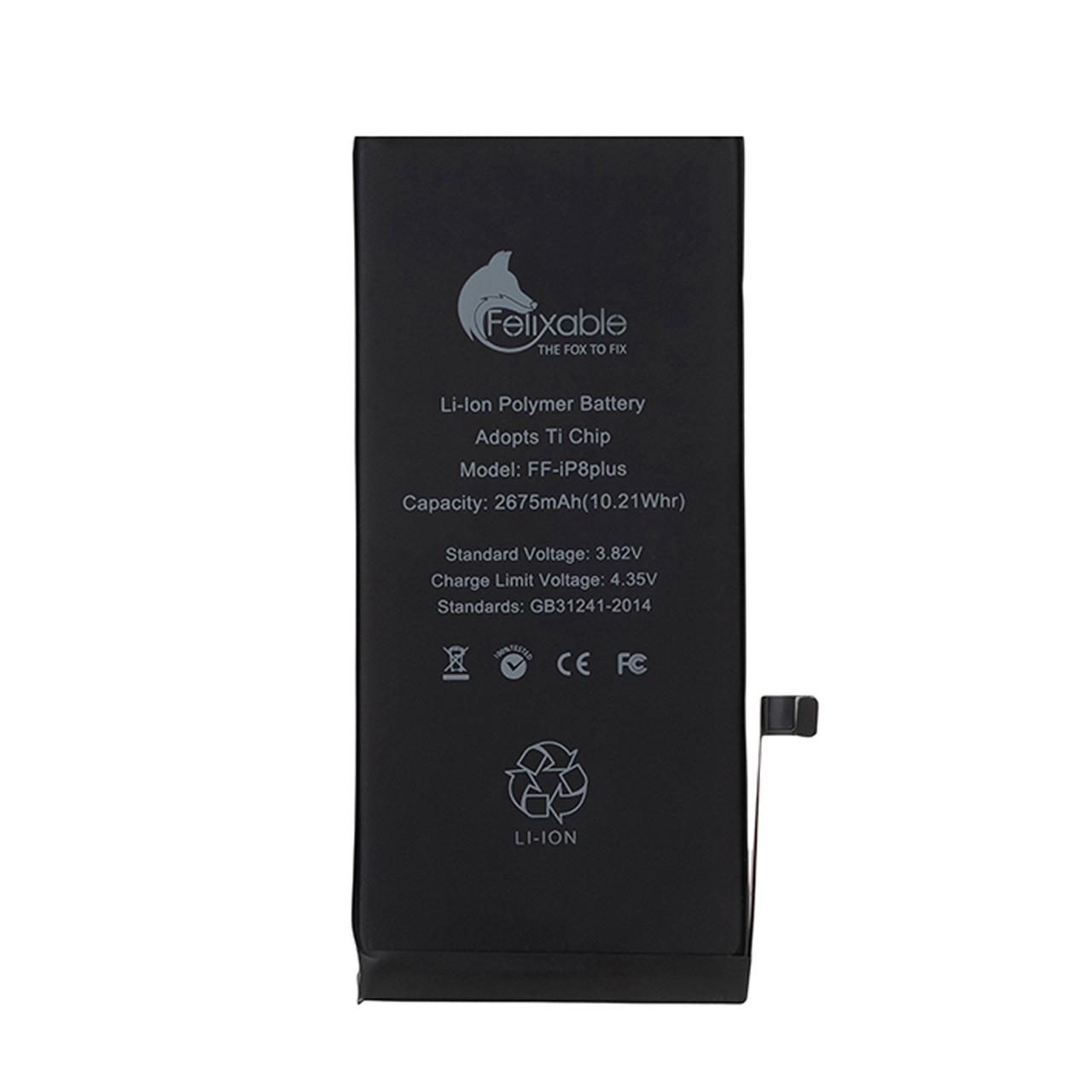 باتری موبایل فلیکسبل مدل FF-iP8P ظرفیت 2675 میلی آمپر ساعت مناسب برای گوشی موبایل اپل iPhone 8 Plus
