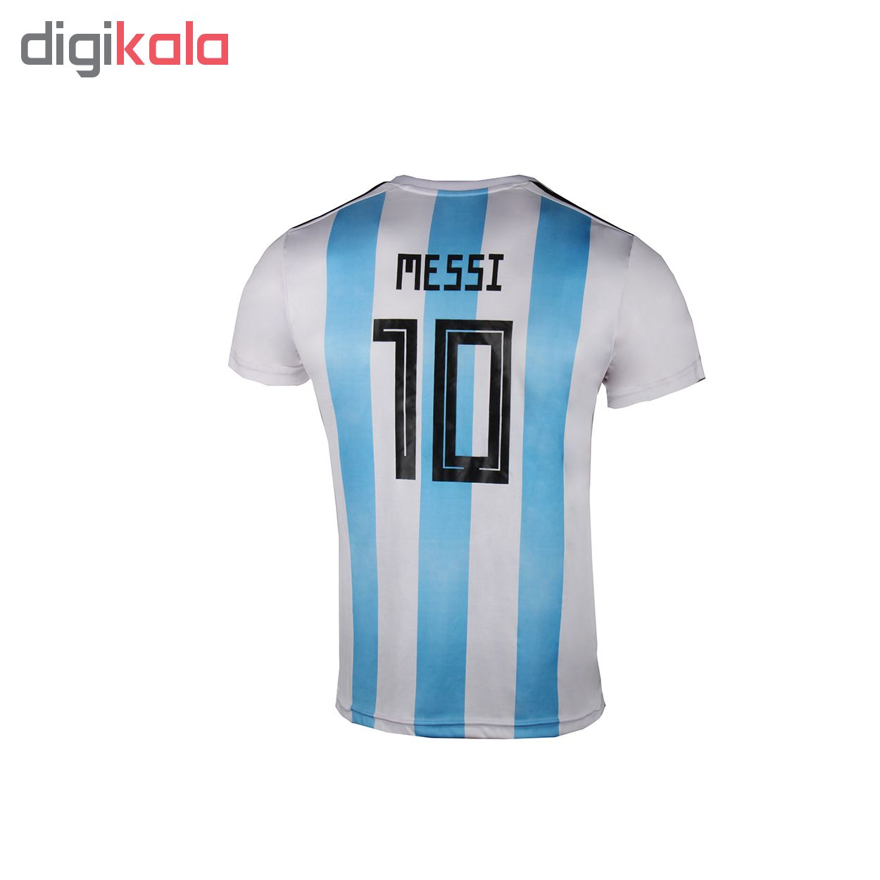 ست تی شرت و شلوارک ورزشی پسرانه طرح تیم آرژانتین کد 3047