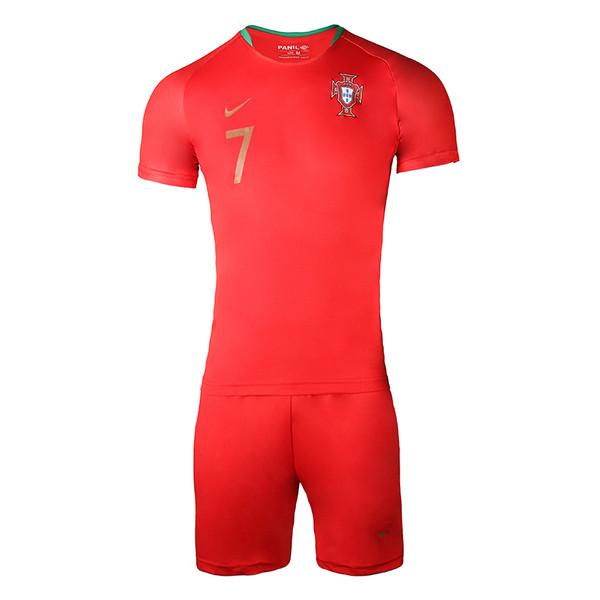 ست تی شرت و شلوارک ورزشی مردانه طرح تیم پرتغال کد 13035