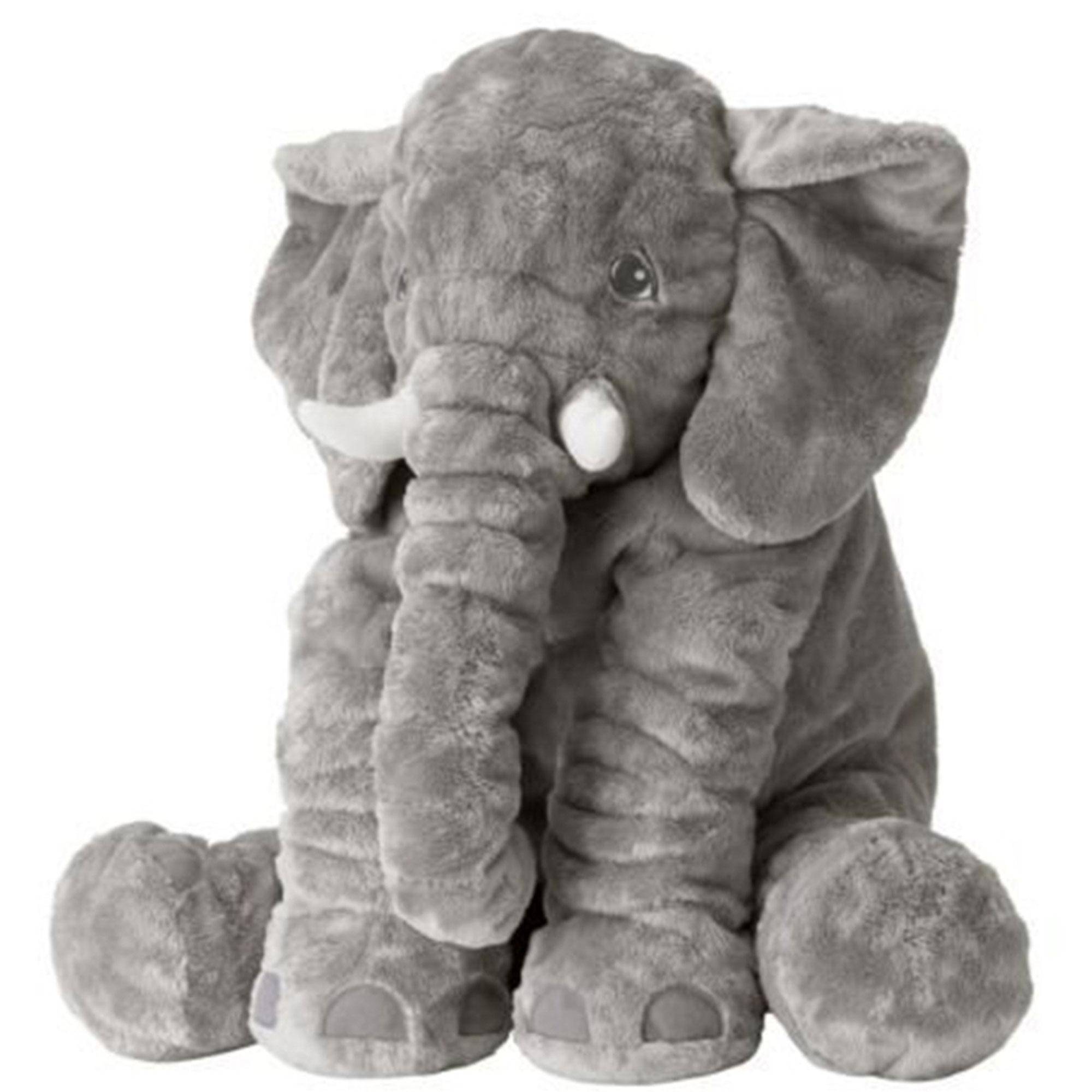 خرید                     عروسک طرح فیل بالشتی مدل mommy elephant ارتفاع 60 سانتی متر