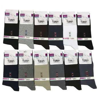 جوراب مردانه تکین کد 1123 بسته 12 عددی