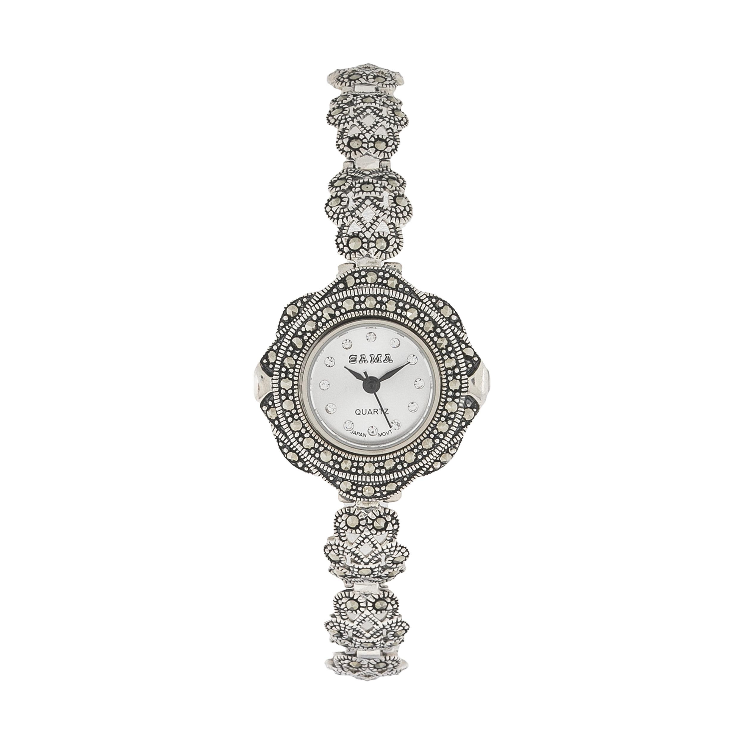 ساعت نقره زنانه سما مدل OK4235