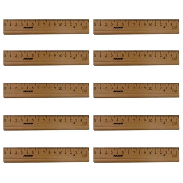خط کش 15 سانتیمتری جولی مدل 0001-9010 بسته 10 عددی
