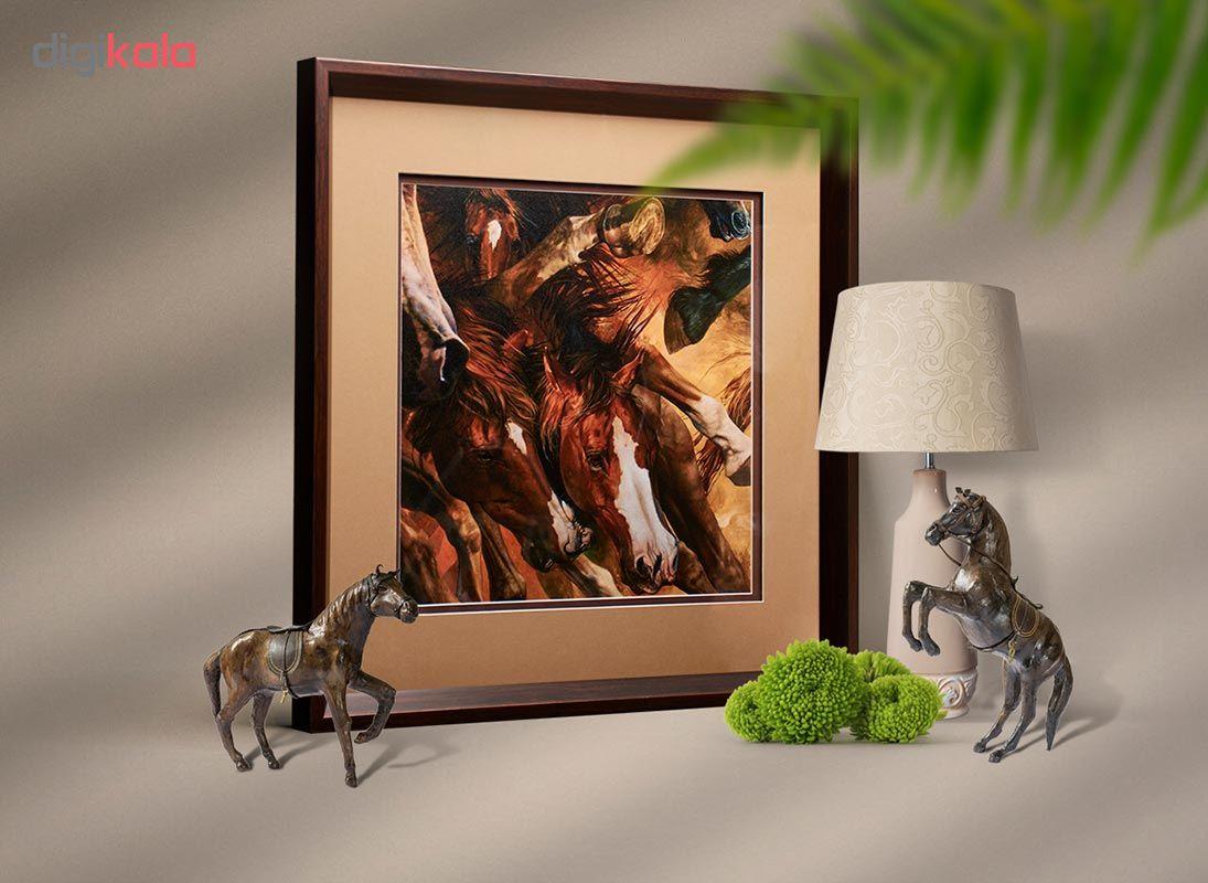 تابلو طرح اسب مدل Frame -101