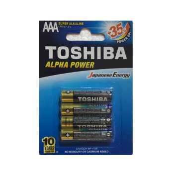 باتری نیم قلمی توشیبا مدل Alpha Power بسته 4 عددی