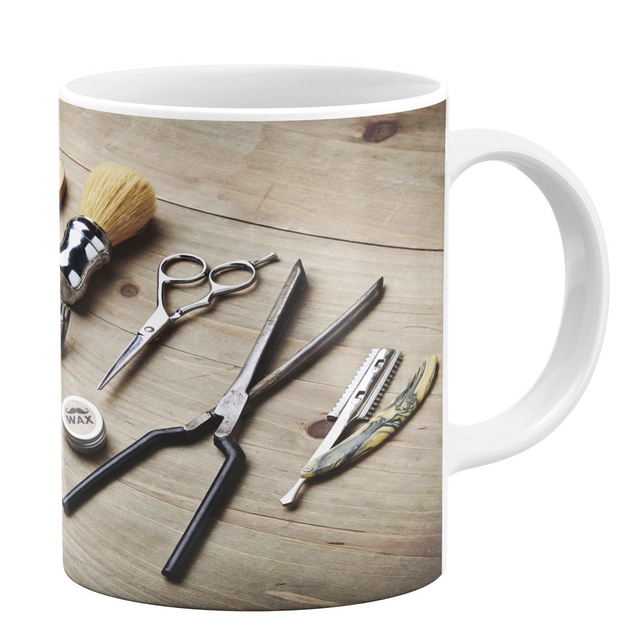 ماگ طرح لوازم آرایشگری کد 1105409148