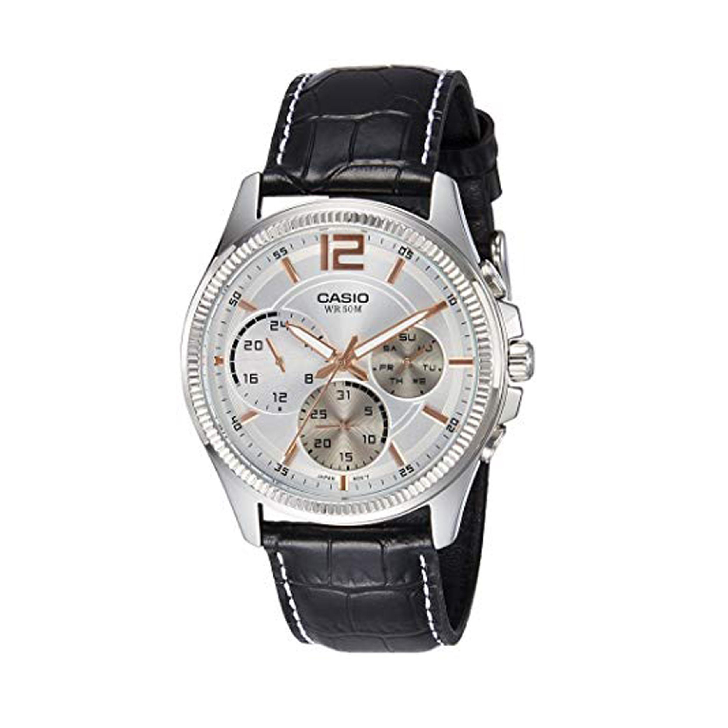 ساعت مچی عقربه ای مردانه کاسیو مدل MTP-E305L-7AVDF