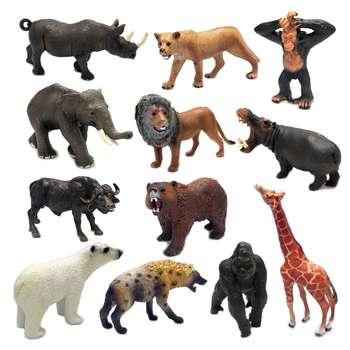 فیگور طرح حیوانات جنگل مدل Forest Kings بسته 12عددی