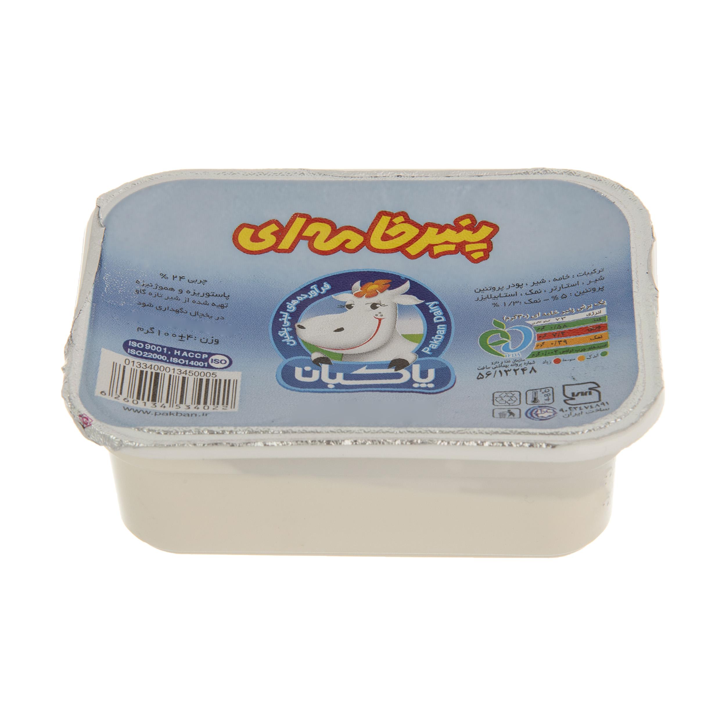 پنیر خامه ای پاکبان وزن 100 گرم