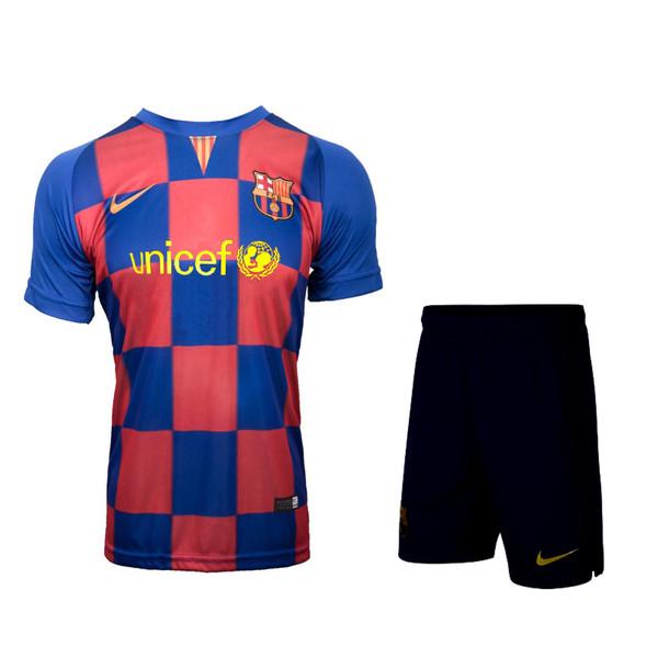 ست پیراهن و شورت ورزشی پسرانه طرح بارسلونا مدل 010