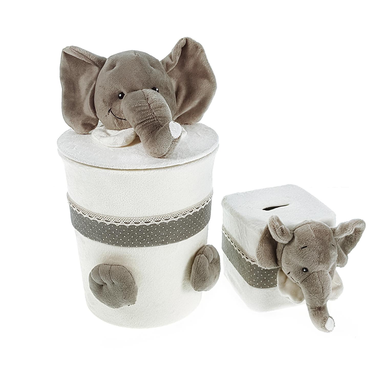 ست سطل و جادستمال اتاق کودک طرح فیل کد G-W