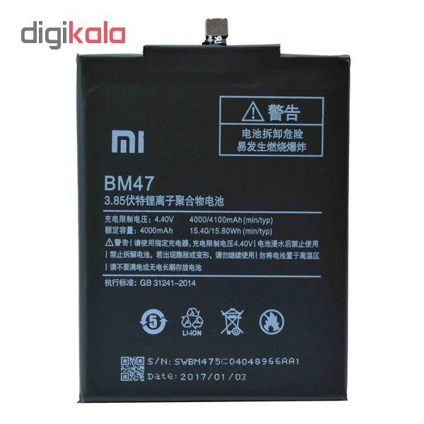 باتری موبایل مدل bm47 ظرفیت 4000 میلی آمپر ساعت مناسب  برای گوشی موبایل شیائومی redmi 4x main 1 1