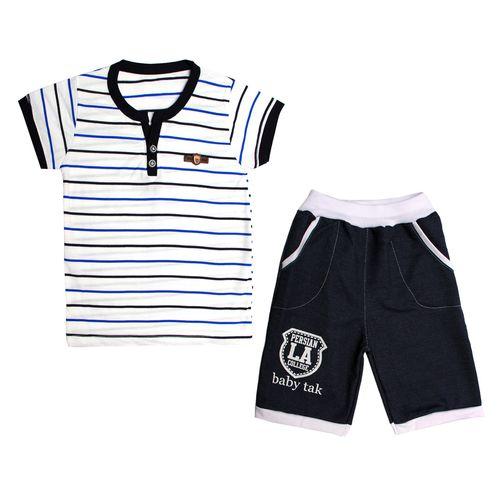 ست تی شرت و شلوارک پسرانه کد 7-380042