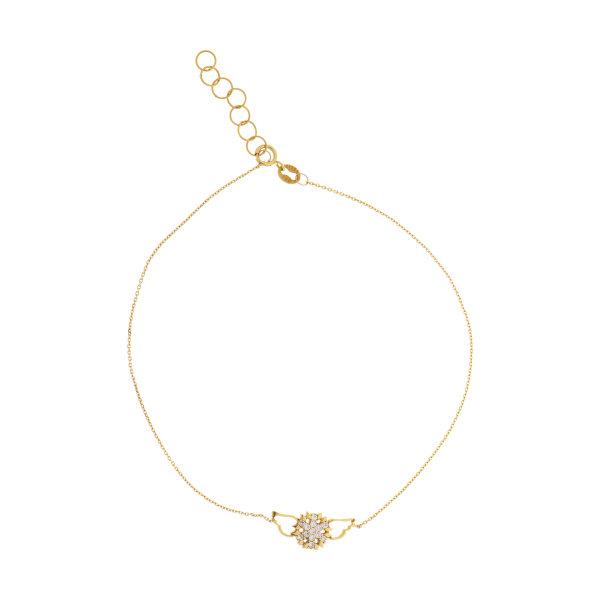 دستبند طلا 18 عیار زنانه مدل TA167
