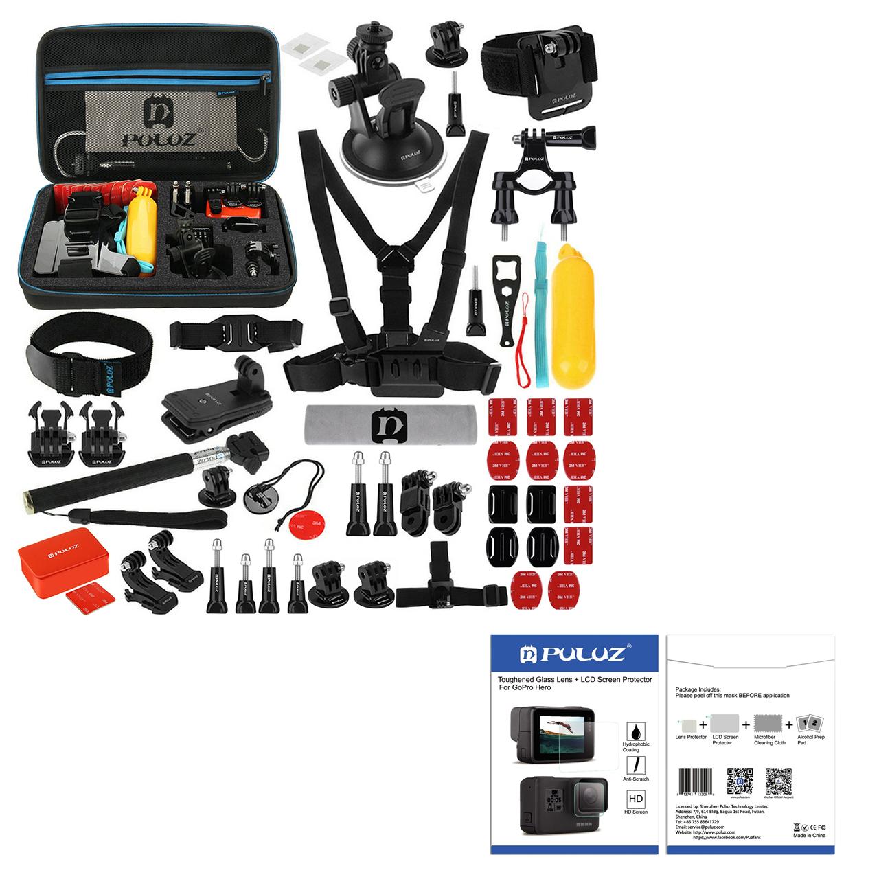 لوازم جانبی پلوز مدل PK09 مناسب برای دوربین ورزشی به همراه محافظ لنز و صفحه نمایش دوربین