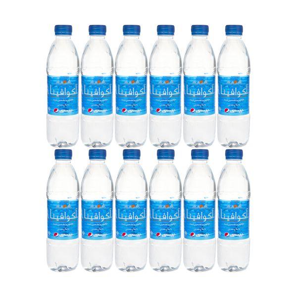 آب معدنی آکوافینا حجم 500 میلی لیتر بسته 12 عددی
