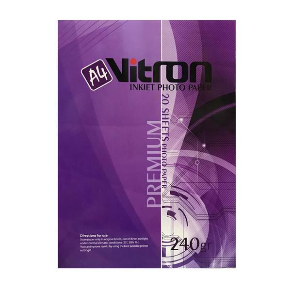 کاغذ چاپ عکس براق ویترون مدل NG852456 سایز A4 بسته 20 عددی