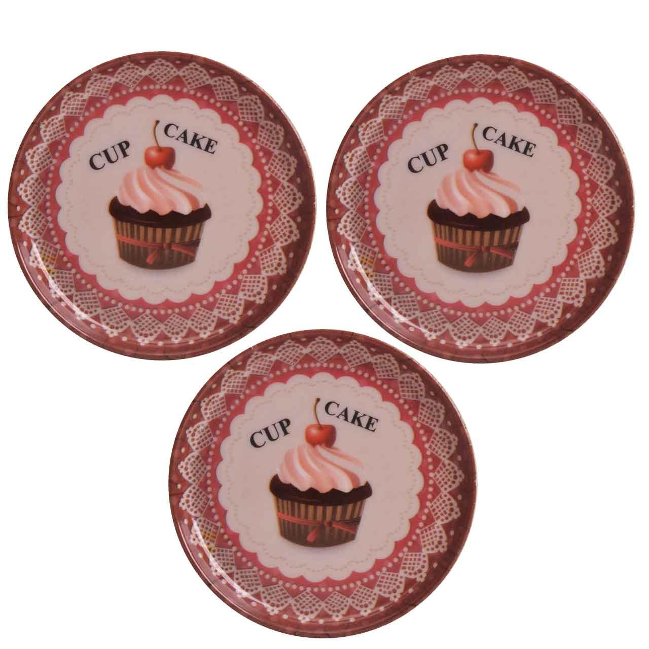 عکس زیر لیوانی مهروز طرح کاپ کیک کد 7764 بسته 3 عددی