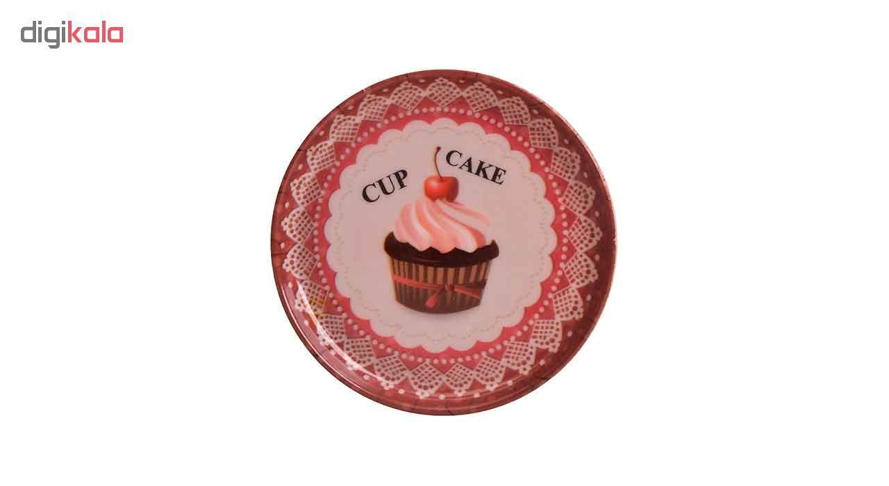 زیر لیوانی مهروز طرح کاپ کیک کد 7764 بسته 3 عددی