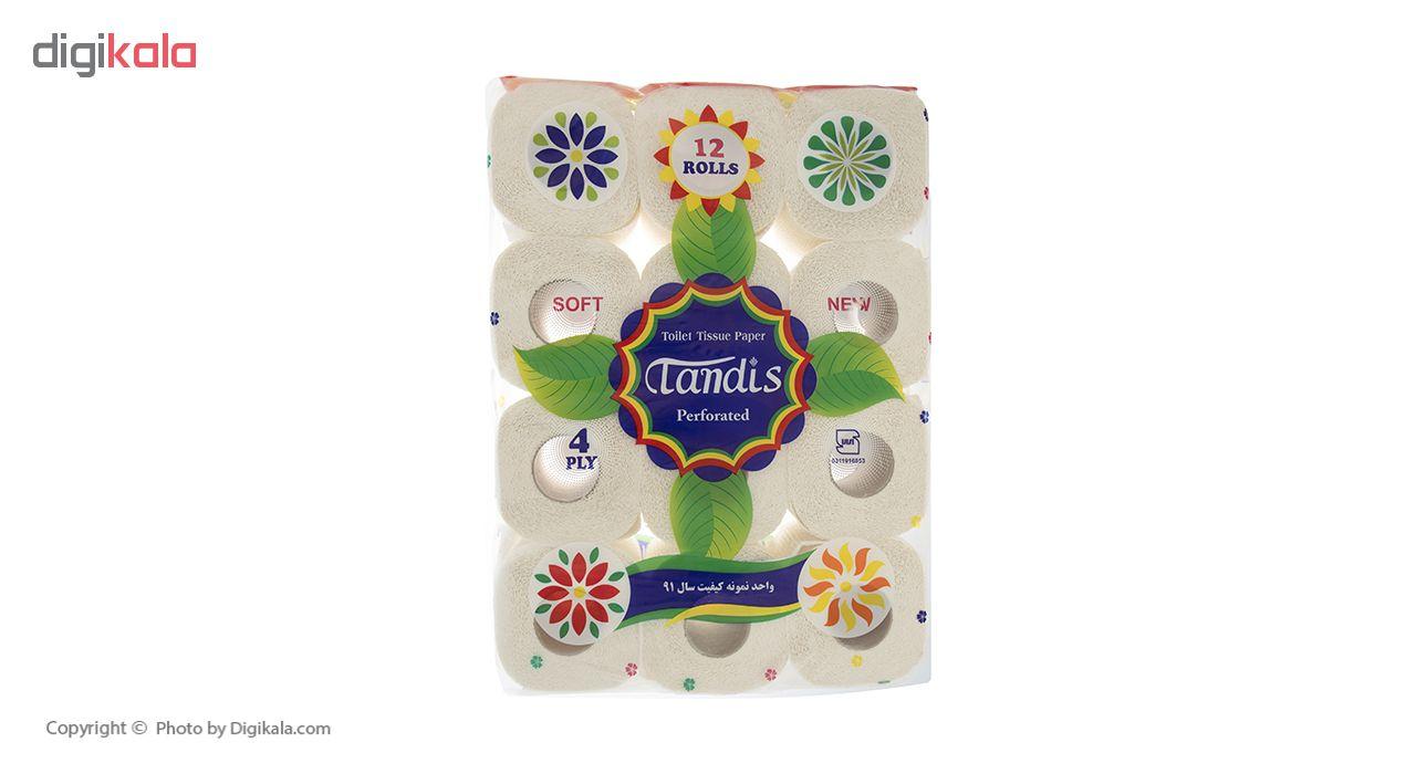 دستمال توالت تندیس مدل Flower بسته 12 عددی main 1 2