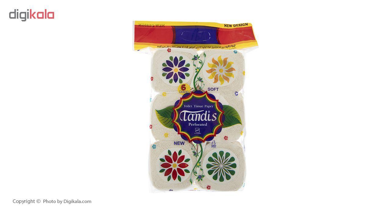 دستمال توالت تندیس مدل Flower بسته 6 عددی main 1 2