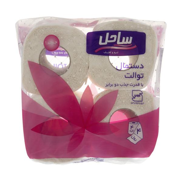 دستمال توالت ساحل مدل Pink بسته 4 عددی
