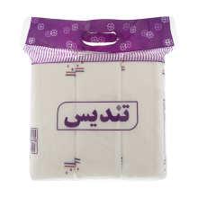 دستمال کاغذی 150 برگ تندیس مدل Purple بسته 3 عددی