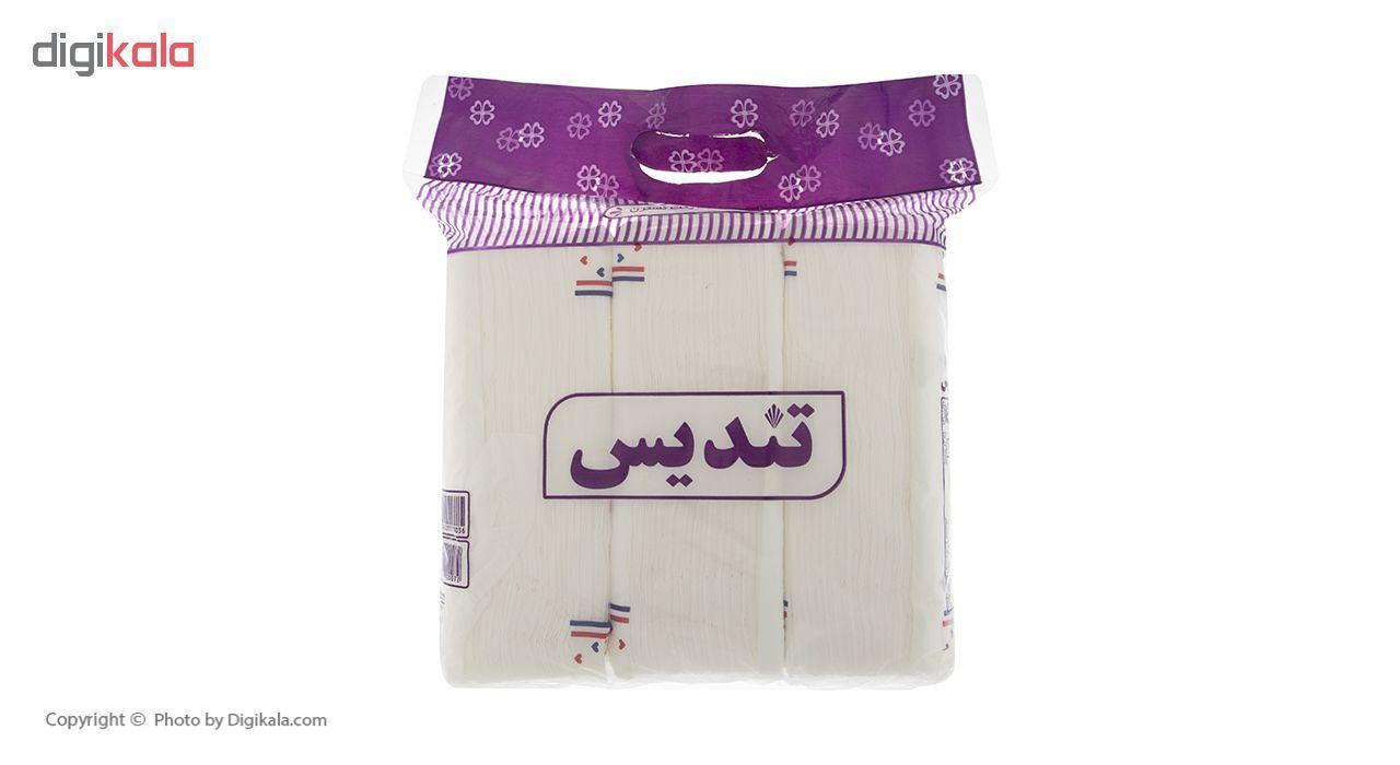 دستمال کاغذی 150 برگ تندیس مدل Purple بسته 3 عددی main 1 1