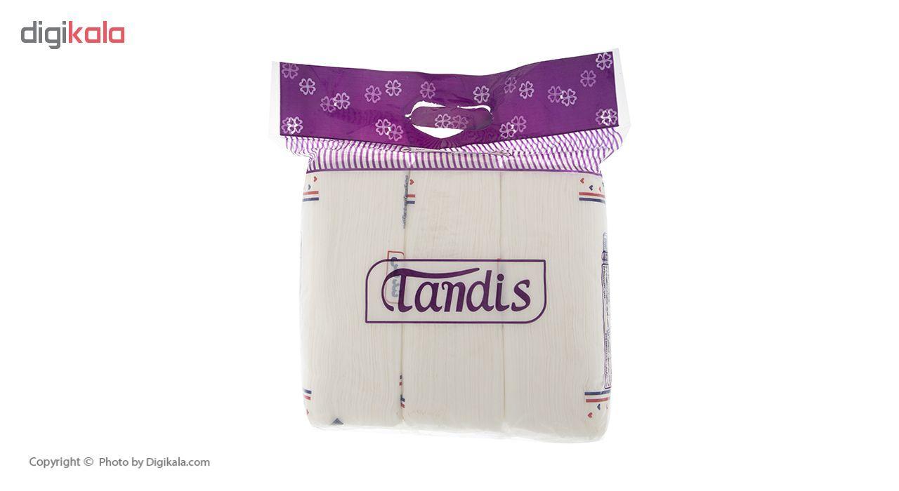 دستمال کاغذی 150 برگ تندیس مدل Purple بسته 3 عددی main 1 3