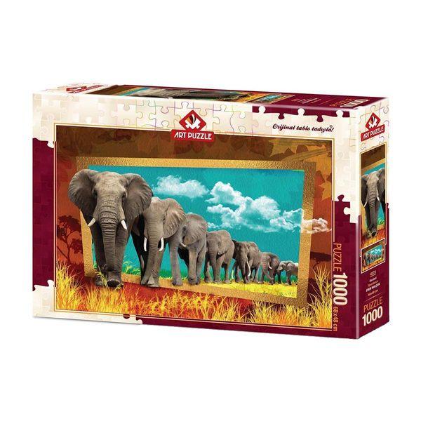 پازل 1000 تکه آرت پازل طرح فیل کد 4373