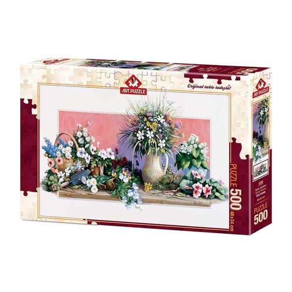 پازل 500 تکه آرت پازل طرح گلهای بهاری کد 4208