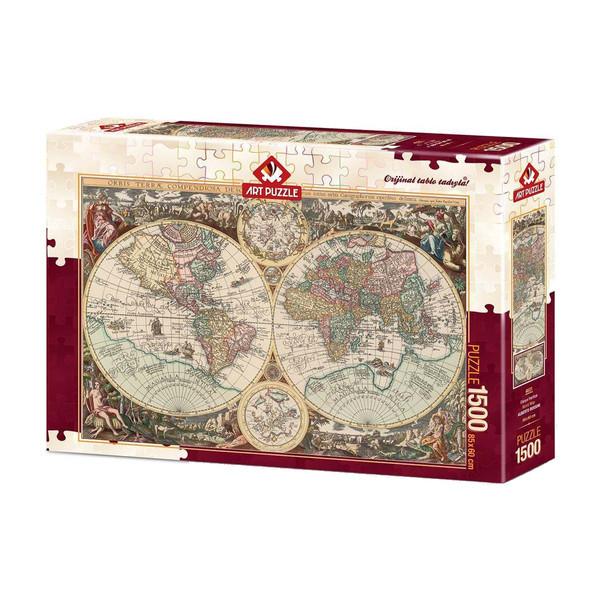 پازل 1500 تکه آرت پازل طرح  نقشه جهان كد 4631