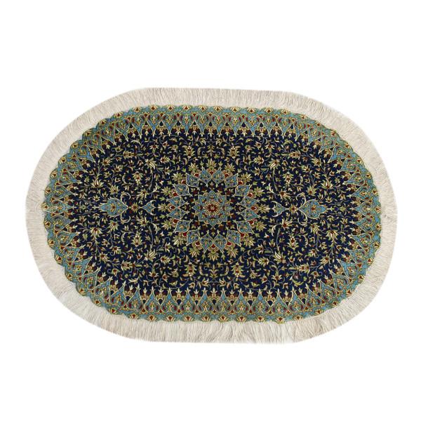 فرش دستبافت نیم متری طرح قم کد 1105700