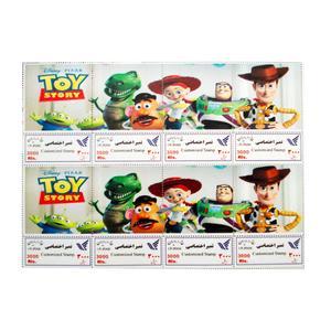 تمبر یادگاری سری کارتونی مدل toy story مجموعه 8 عددی