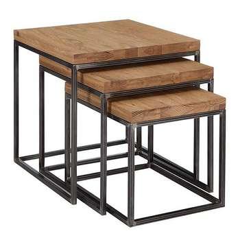 میز جلو مبلی کد iron2 مجموعه 3 عددی