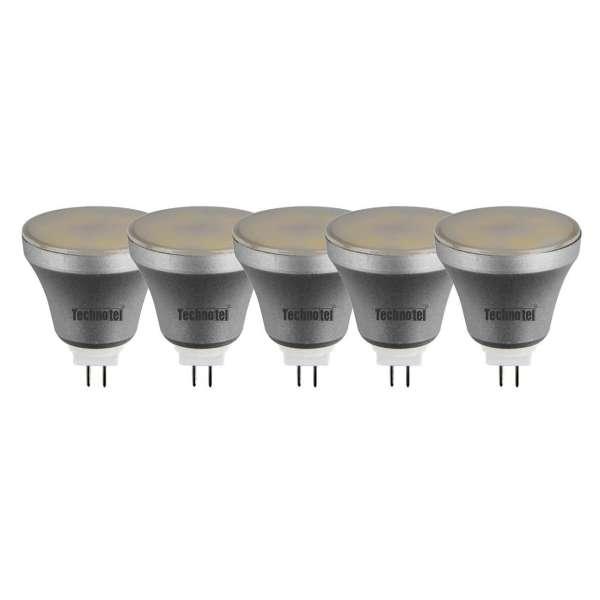 لامپ ال ای دی 5 وات تکنوتل مدل 505 پایه GU5.3 بسته 5 عددی