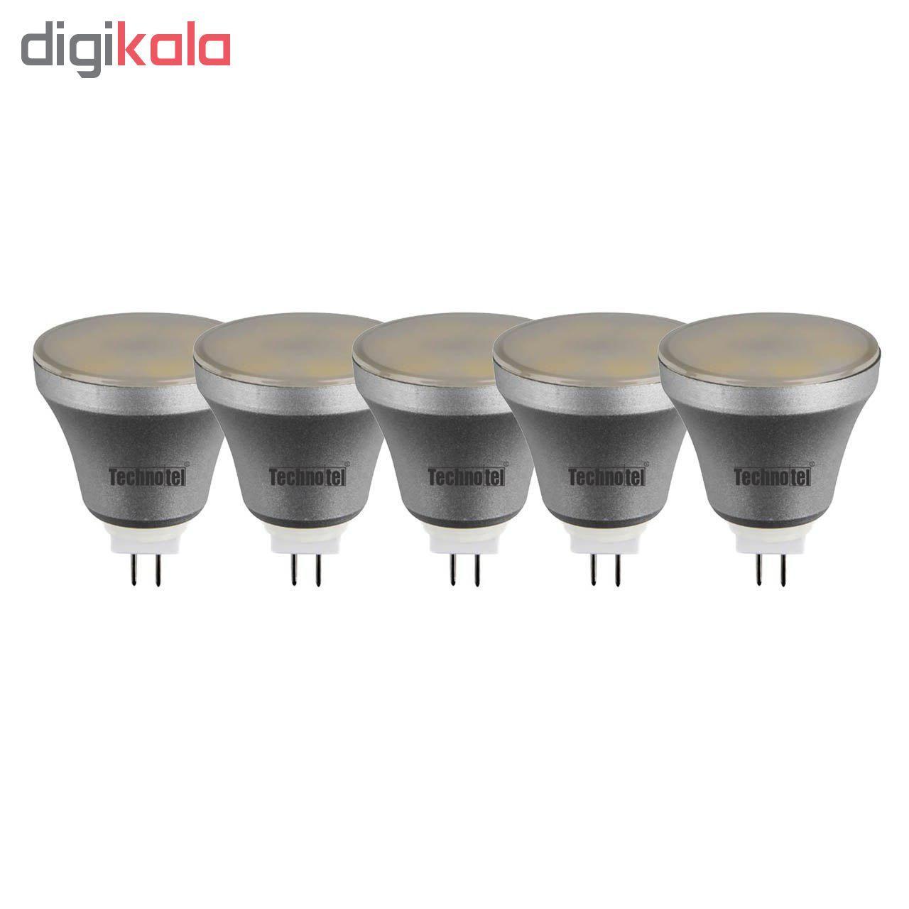 لامپ ال ای دی 5 وات تکنوتل مدل 505 پایه GU5.3 بسته 5 عددی main 1 1