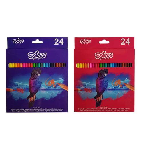 مداد رنگی ۲۴ رنگ اویز مدل فنتستیک بسته ۲ عددی