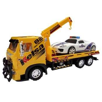 ماشین بازی دورج تویز طرح جرثقیل مدل Tow Truck مجموعه 2 عددی