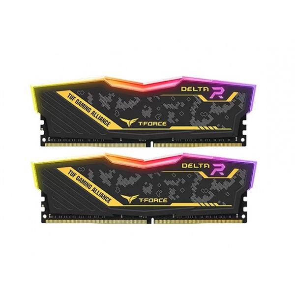 رم دسکتاپ DDR4 دو کاناله 3200 مگاهرتز CL16 تیم گروپ مدل T-Force TUF Delta RGB ظرفیت 32 گیگابایت