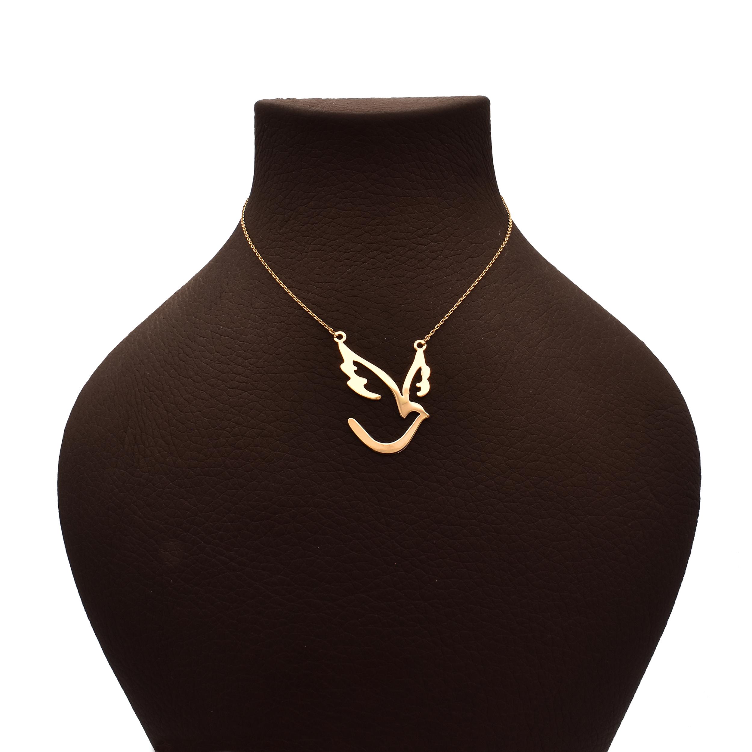 گردنبند طلا 18 عیار زنانه آرشا گالری طرح پرنده کد A2431