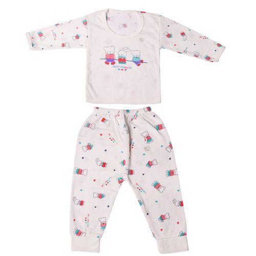 ست تی شرت و شلوار نوزادی طرح بست فرندز کد 04