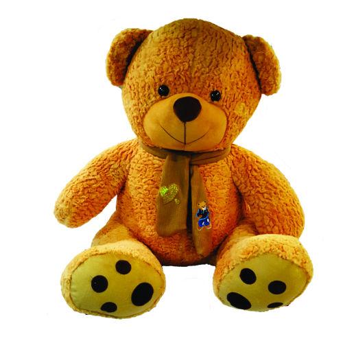 عروسک طرح خرس تدی شالگردنی ارتفاع  100 سانتی متر