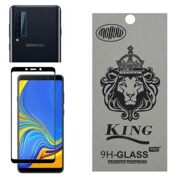 محافظ صفحه نمایش ملو مدل 07-Fu مناسب برای گوشی موبایل سامسونگ Galaxy A9 2018 به همراه محافظ لنز دوربین