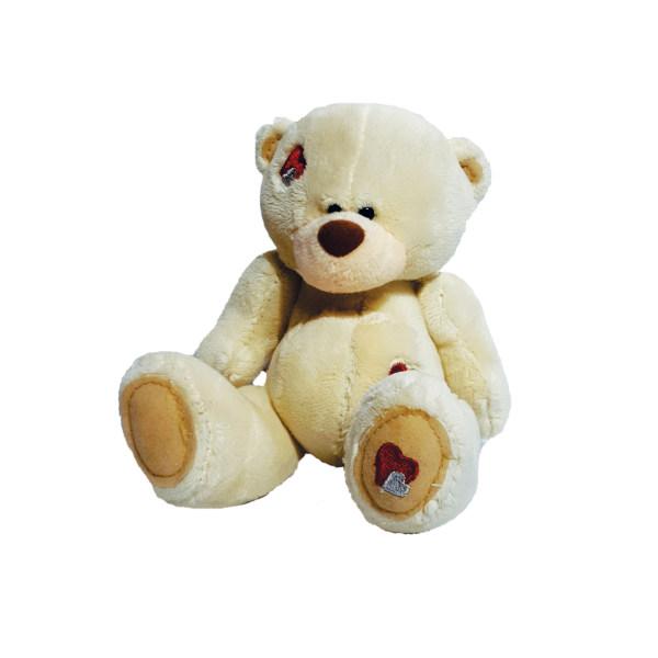 عروسک طرح خرس تدی قلبدار ارتفاع 12 سانتی متر