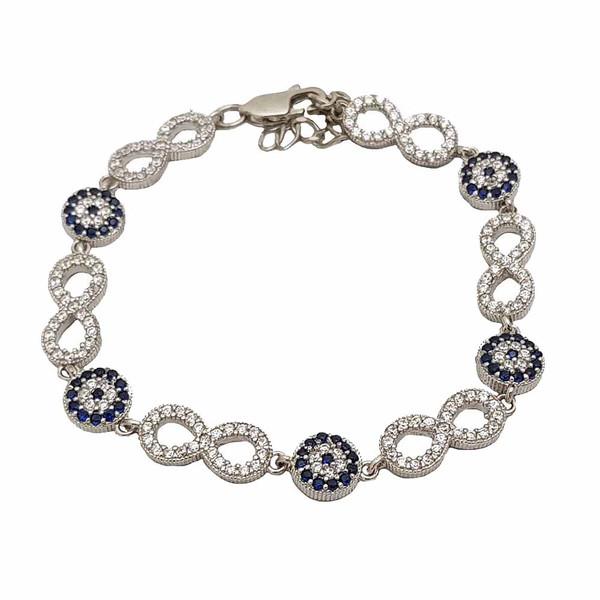 دستبند نقره زنانه ترمه 1 طرح بی نهایت کد DB 5009