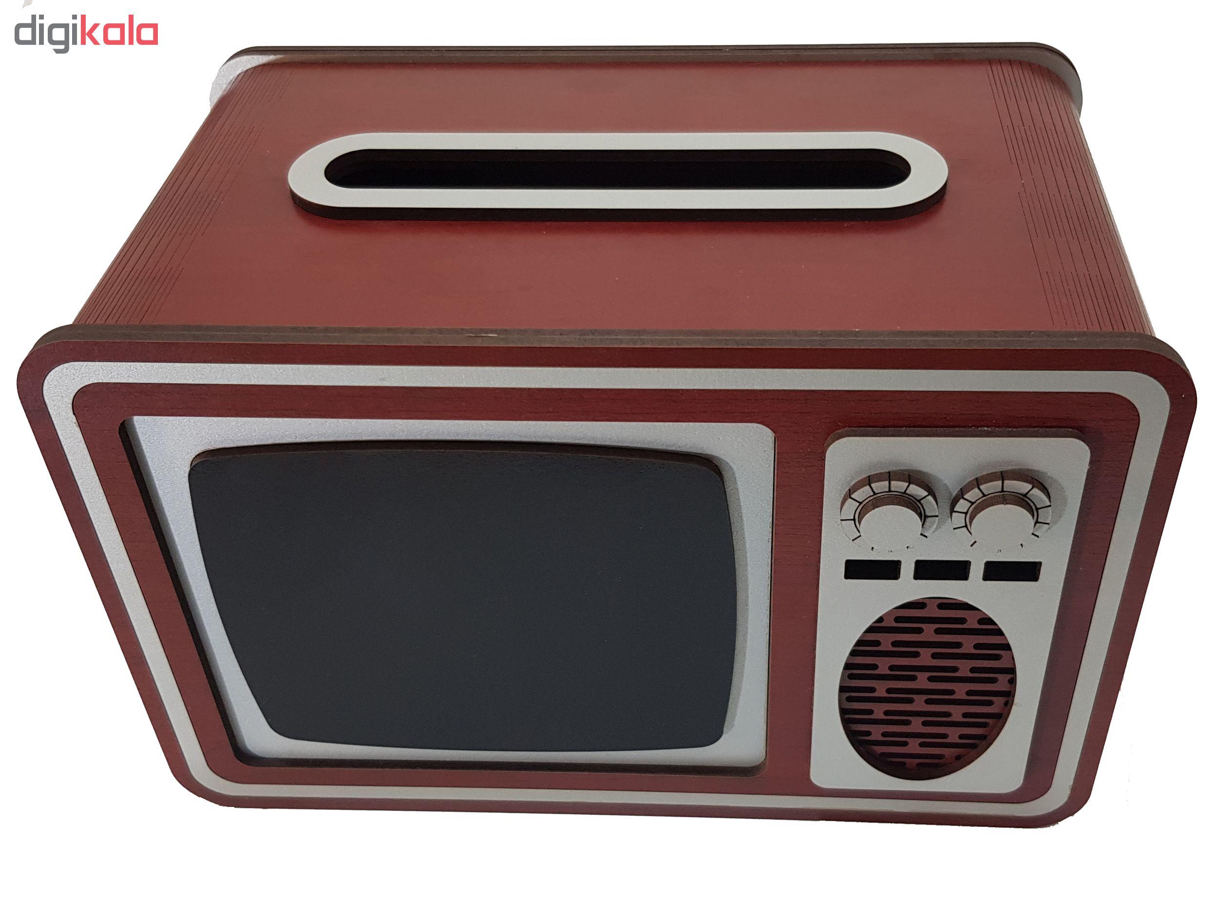 جعبه دستمال کاغذی طرح تلوزیون